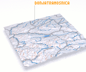 3d view of Donja Tramošnica