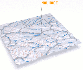 3d view of Malkoče