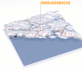 3d view of Gornje Dubočke