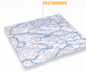 3d view of Koštan Bara