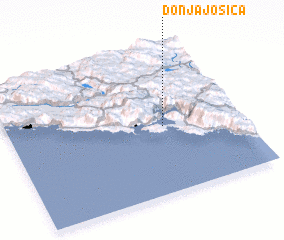 3d view of Donja Jošica
