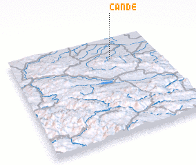 3d view of Čande