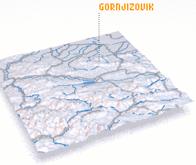 3d view of Gornji Zovik
