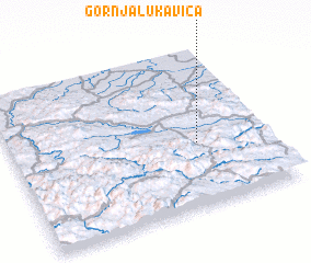 3d view of Gornja Lukavica