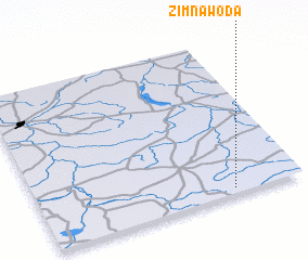 3d view of Zimna Woda