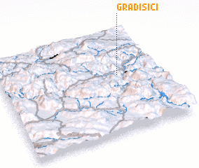 3d view of (( Gradišići ))