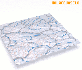 3d view of Kovačevo Selo