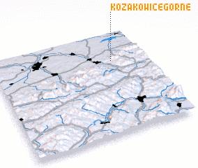 3d view of Kozakowice Górne