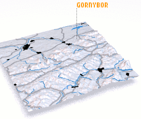 3d view of Górny Bór