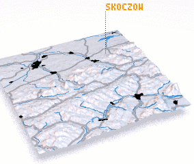 3d view of Skoczów