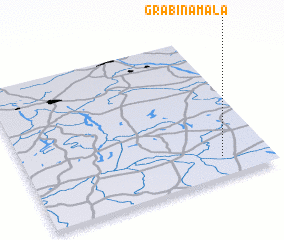 3d view of Grabina Mała