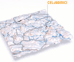 3d view of Čeljadinići