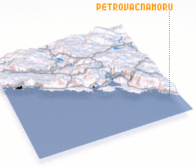 3d view of Petrovac na Moru