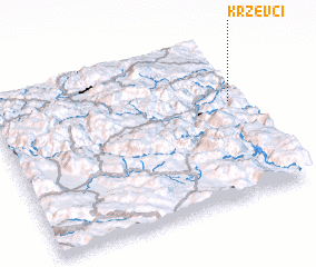 3d view of Krževci