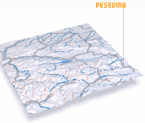 3d view of Peševina