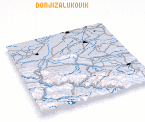 3d view of Donji Zalukovik