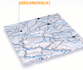 3d view of Gornji Maskalići