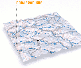 3d view of Donje Ponikve