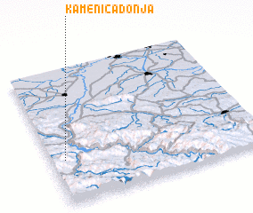 3d view of Kamenica Donja