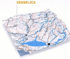 3d view of Kriva Ploča