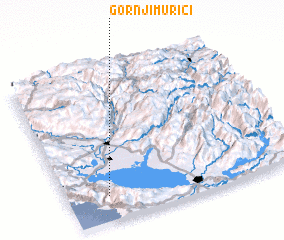 3d view of Gornji Murići