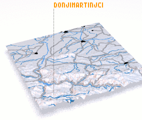 3d view of Donji Martinjci
