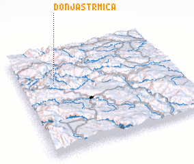 3d view of Donja Strmica