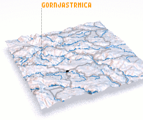 3d view of Gornja Strmica
