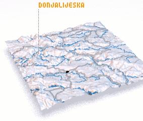 3d view of Donja Lijeska