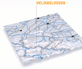 3d view of Velika Glogova