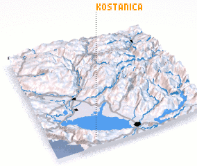 3d view of Koštanica