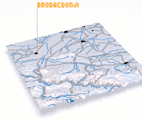 3d view of Brodac-Donji