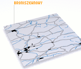 3d view of Broniszew Nowy
