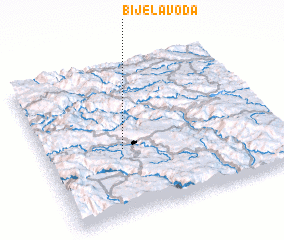 3d view of Bijela Voda