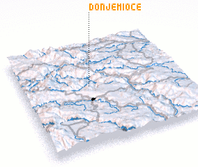 3d view of Donje Mioče