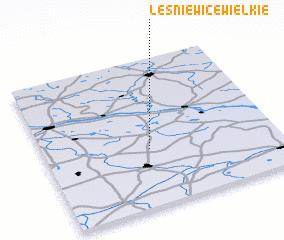 3d view of Leśniewice Wielkie