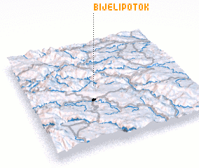 3d view of Bijeli Potok