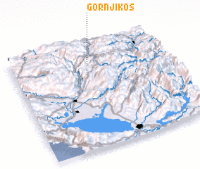 3d view of Gornji Kos