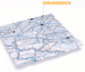 3d view of Donja Orovica