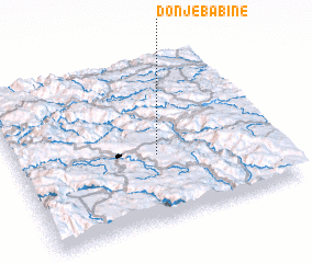 3d view of Donje Babine