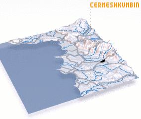 3d view of Çermë Shkumbin