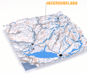 3d view of Jasenova Klada