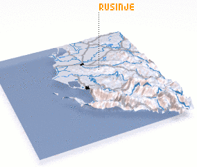 3d view of Rusinjë