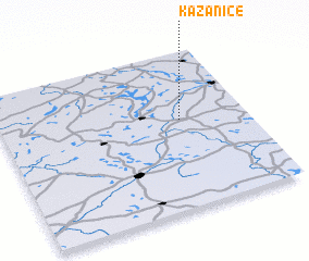 3d view of Kazanice