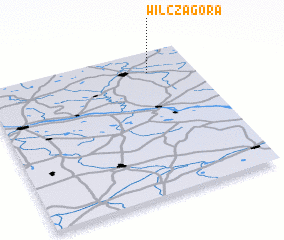 3d view of Wilcza Góra