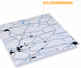3d view of Kolonia Mrowina