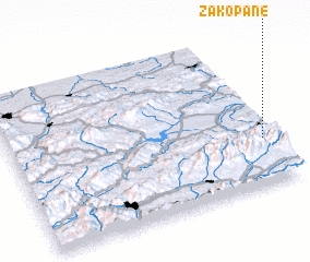3d view of Zakopane