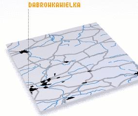 3d view of Dąbrówka Wielka