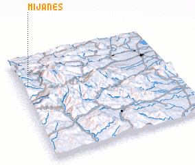 3d view of Mijanès