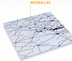 3d view of Mézerolles